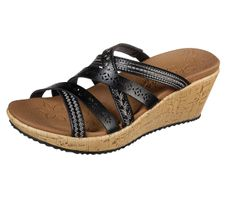 Skechers Cali BEVERLEE TIGER POSSE Sandalen/Fashion-Sandalen Women Schwarz