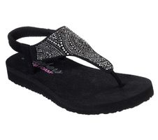 Skechers Cali MEDITATION NEW MOON Sandalen Women Schwarz