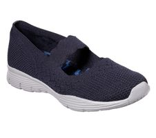 Skechers Womens Modern Comfort SEAGER POWER HITTER Ballerinas Women Blau