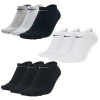 3 Paar Nike Sneaker Socken No Show Füßlinge schwarz / weiß / Mehrfarbig