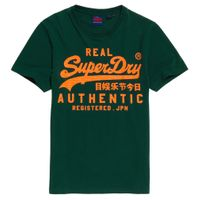 Superdry Herren Vintage Authentic Fluro Tee T-Shirt M1000056B Grün