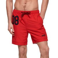 Superdry Herren Water Polo Swim Short Badehose Schwimmhose M30018AT Rot