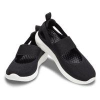 Crocs LiteRide Mary Jane Damen Sandale Freizeitschuh 206082 Schwarz