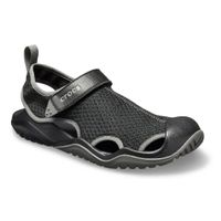 Crocs Men Swiftwater Mesh Deck Sandale Sommerschuh 205289 Schwarz