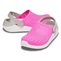 Crocs LiteRide Clog Unisex Kinder Sandale Roomy Fit 205964 Pink