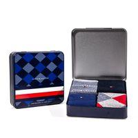4 Paar Tommy Hilfiger Herren TH Men 4P Sock Giftbox ARGYL Geschenkbox Businesssocken