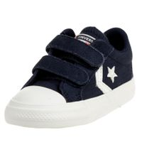 Converse CTAS 2V OX Ripstop Easy-On Star Player Low Top Kinder Sneaker 767550C Blau