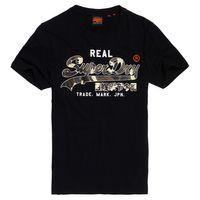 Superdry Herren Vintage Logo Camo Mid Tee T-Shirt M1000057B schwarz