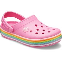 Crocs Crocband Rainbow Glitter Clog K Kinder Junior Clog Relaxed Fit 206151-669 pink