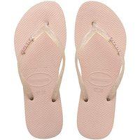 Havaianas H. Slim Logo Metallic Damen Sandale Zehentrenner Badelatsche 4119875 Rosa