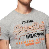 Superdry Herren Premium Goods Outline MId Tee T-Shirt M1000027A grau