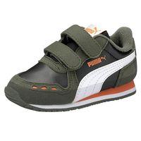 PUMA Cabana Racer SL V Inf Kinder Sneaker Klettverschluss Schwarz/ Grün 351980
