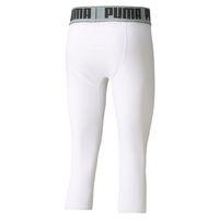 PUMA BBall Compression 3/4 Basketball Hose Herren Sport Hose 605079 Weiß