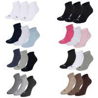 6 Paar Puma Sneaker Quarter Socken Gr. 35 - 49 Unisex für Damen Herren Füßlinge