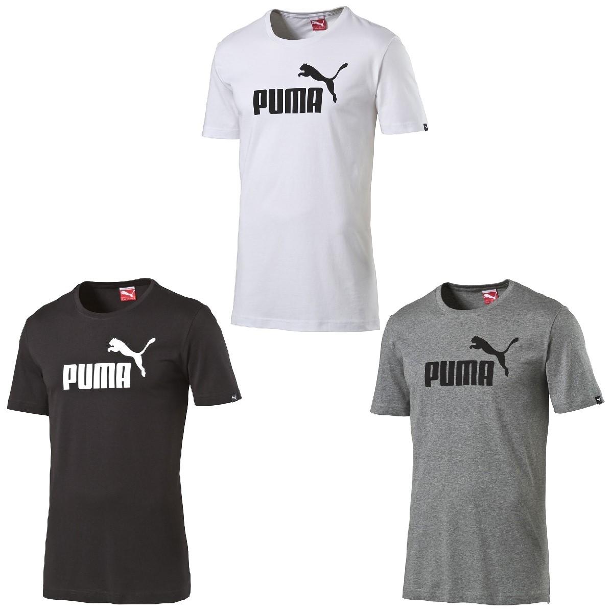 puma herren ess essential no 1 logo tee t shirt. Black Bedroom Furniture Sets. Home Design Ideas