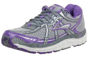 Brooks Addiction 11 Laufschuhe Damen women Running grau silber lila