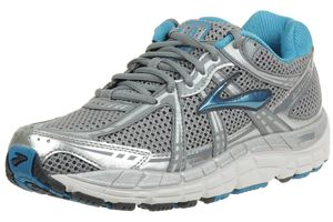 Brooks Addiction 11 Laufschuhe Damen women Running silber blau