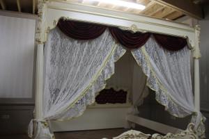 Barock antik Stil Himmelbett Bett Vp7762H – Bild 2