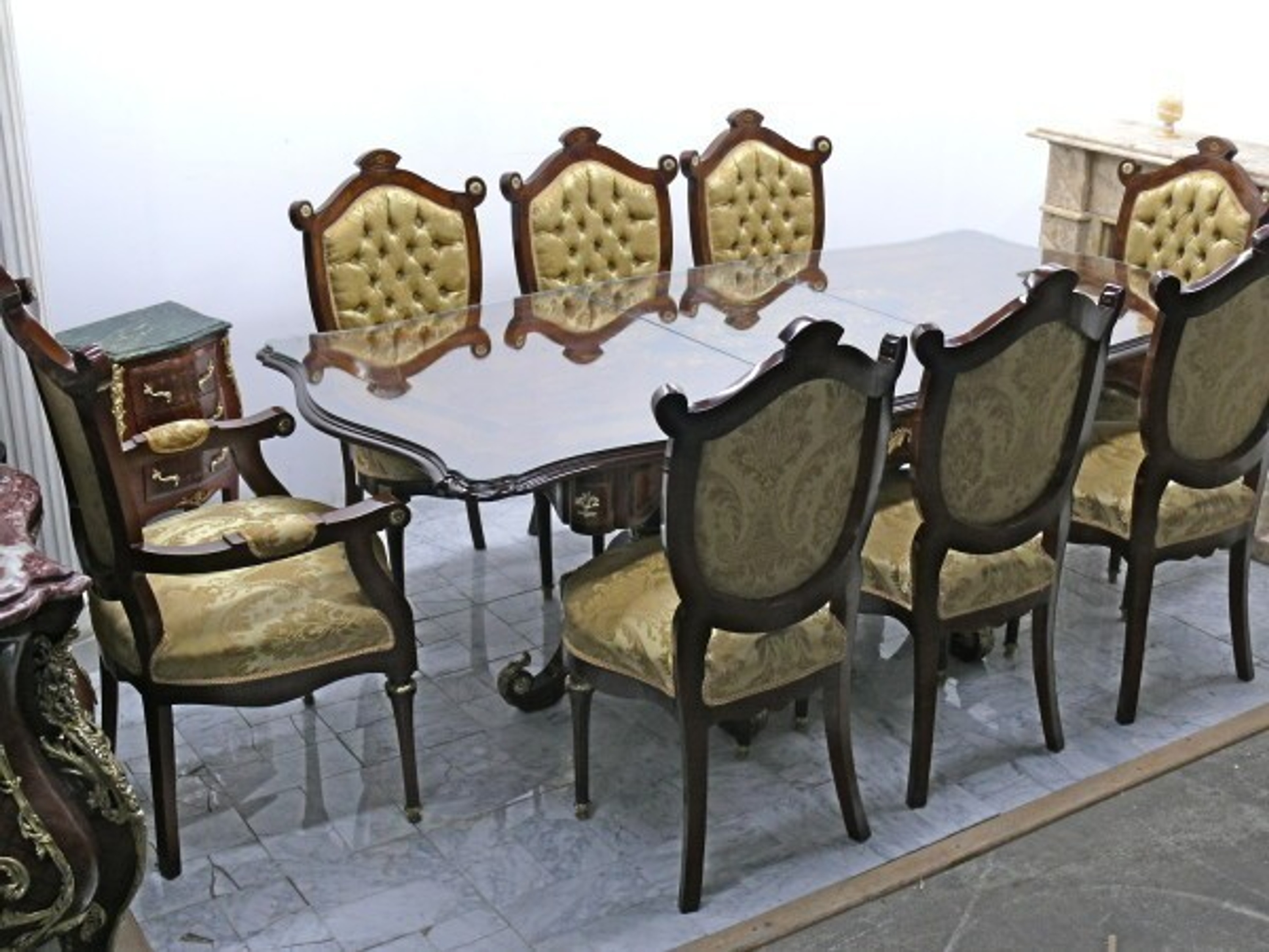 barock esszimmer tisch st hle armlehner moes1105 ebay. Black Bedroom Furniture Sets. Home Design Ideas