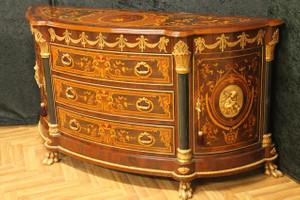 Barock Kommode Anrichte Holz Antik Stil LouisXV MoBa0550A