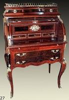 secrétaire Antique Style Baroque Bureau Plat Louis XV MoSc0227 – Bild 10