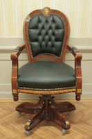 baroque armchair carved rococo chair antique style MoCh0857SkSw – Bild 4