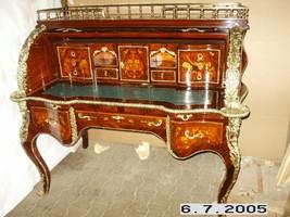 bureau baroque Secrétaire Louis XV Baroque MoSc0454SkGn – Bild 1