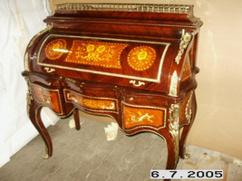 bureau baroque Secrétaire Louis XV Baroque MoSc0454SkGn – Bild 2