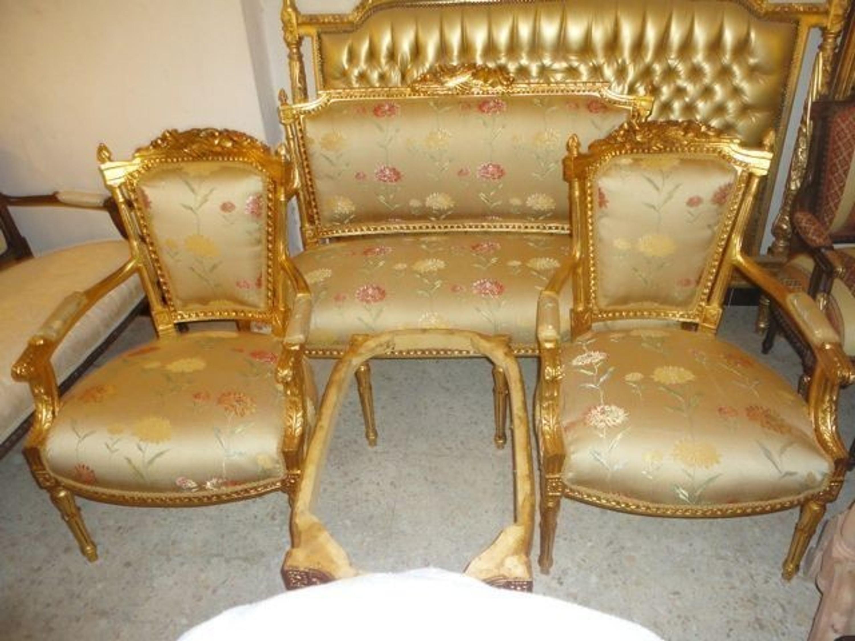 Barock Antik Stil Stil Salon 4 Sessel 1 Sofa Alsa0315 Louisxv