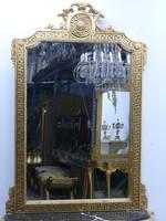 Spiegel Konsole Barock mit Marmor-Platte schwarz  AwKs0184Sw – Bild 11