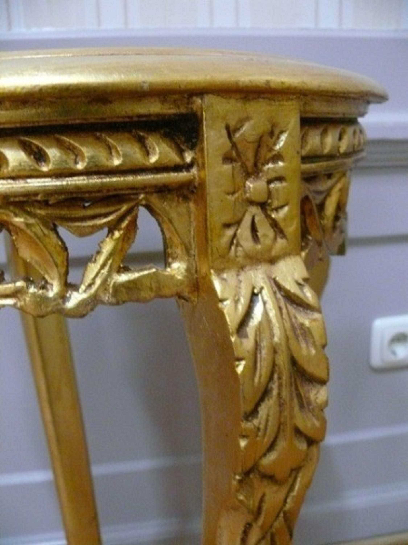 Beistelltisch Tisch rund Antik Stil Barock AlTa0332GoFS