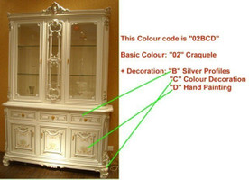Baroque Sofa 2er 2sitzer de Salon Vp0842 de style antique – Bild 15