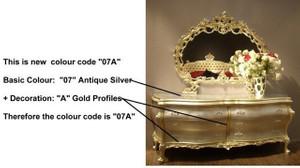 Baroque Sofa 2er 2sitzer de Salon Vp0842 de style antique – Bild 23