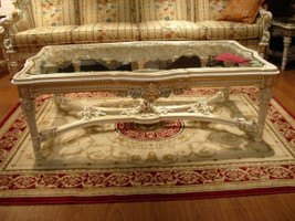 baroque couch  table with glass plate  salon set suite antique style Vp0849 – Bild 1