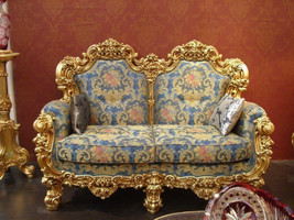 Baroque Sofa 2er 2Sitzer de Salon Vp0892 de style antique – Bild 1