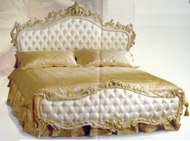 Barock Bett  Doppelbett  200x200 Schlafzimmer Antik Stil   Vp7713K-01A – Bild 7