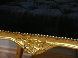 Baroque chaise banquet tabouret AlSo0319GoSwSamt/Velour style antique – Bild 2