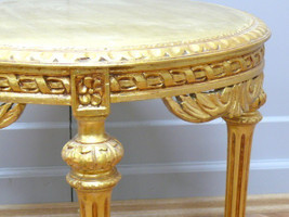 baroque table couch  round wood baroque antique style  AwTa0254GoHz – Bild 5