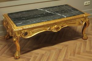 baroque couch  black marble table antique style rococo AlTa0253ASw – Bild 2