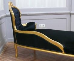AlSo0316GoSwSamt/Velour chaise baroque longue chaise style antique – Bild 3
