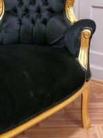 AlSo0316GoSwSamt/Velour chaise baroque longue chaise style antique – Bild 4