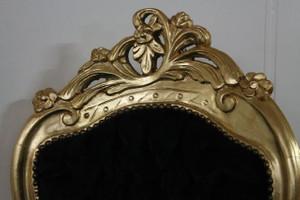 AlSo0316GoSwSamt/Velour chaise baroque longue chaise style antique – Bild 7