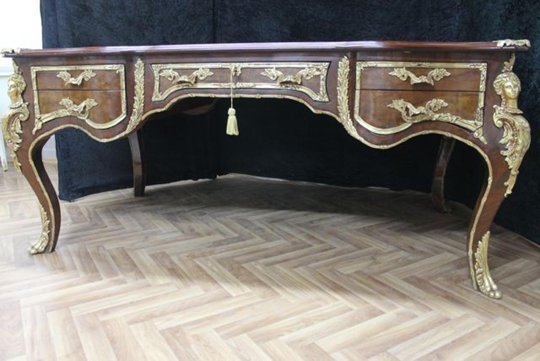 Style antique bureau baroque skai noir louis xv mosrhz