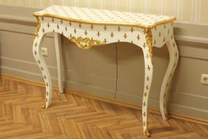 table console baroque coup d'or style antique AlKs0002WeGoLi colonial – Bild 1