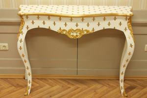 table console baroque coup d'or style antique AlKs0002WeGoLi colonial – Bild 3