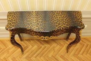 Baroque table console coup style antique or AlKs0002Leo coloniale – Bild 4