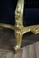 Baroque Rococo Louis XV canapé AlSo0328GoSw – Bild 5