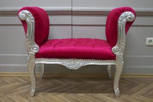 Baroque banquet chaise tabouret style antique - le style AlSo0319SiRdSamt/Velour – Bild 3