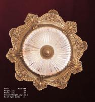 Lüster, Glaslüster, Messing Barock  antik Glas AgEag0699 – Bild 1