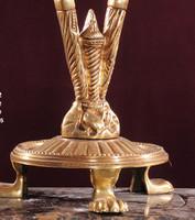 Chandelier, Lampe de table, laiton antique baroque AgEag0722 de verre – Bild 3